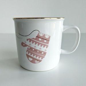 David's Tea Pink Mittens Mug